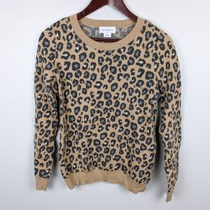 Liz Claiborne | Women's Cheetah Print Sweater